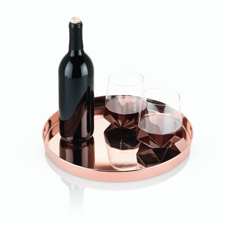 Viski Summit Copper Serving Tray | James Anthony Collection