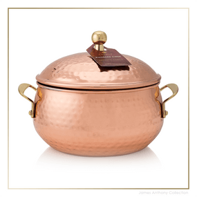 Thymes Simmered Cider Copper Pot Candle UPC 637666044699 | James Anthony Collection