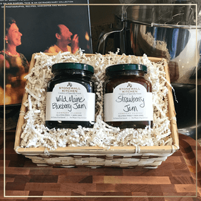Stonewall Kitchen Wild Maine Blueberry Jam & Strawberry Jam Gift Basket | James Anthony Collection
