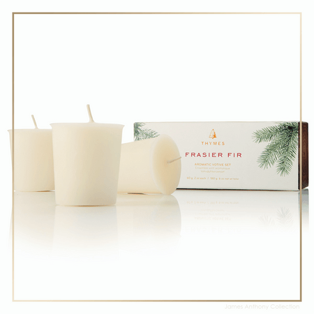 Thymes Frasier Fir Votive Candles - Set of 3 | James Anthony Collection