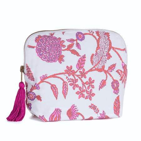 Brai Pochette Porto - Imprimé Fleur Majestic - Rose | James Anthony Collection
