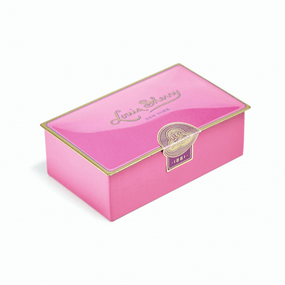 Louis Sherry 2-Piece Draper Pink Tin | James Anthony Collection