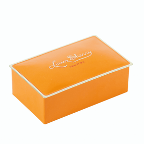 Louis Sherry Chocolates 2-Piece Tangerine Tin | James Anthony Collection