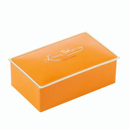 Louis Sherry Chocolates 2-Piece Tangerine Tin | James Anthony Collection