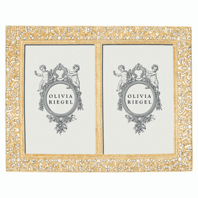"Gold Windsor Double 4"" x 6"" Frame 