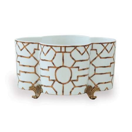 Scalamandre Baldwin Quatrefoil Planter (ACBS-223-16) | James Anthony Collection