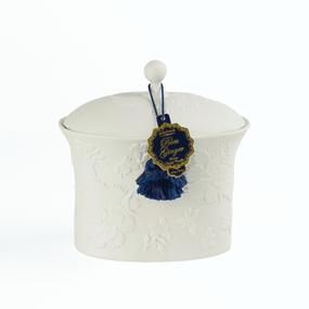SEDA France Bleu et Blanc Bleu Ginger Two-Wick Ceramic Candle | James Anthony Collection