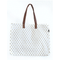 Maika Metallic Gold Dots Canvas Carryall Tote | James Anthony Collection