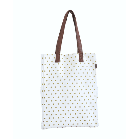 Maika Metallic Gold Dots Market Tote | James Anthony Collection