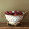 Baldwin White Porcelain Hand Painted Centerpiece Bowl with Solid Brass Ormolu  (ACCS-223-10) | James Anthony Collection