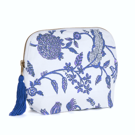 BRAI Pochette Porto Imprimé Fleur Majestic - Bleu | James Anthony Collection