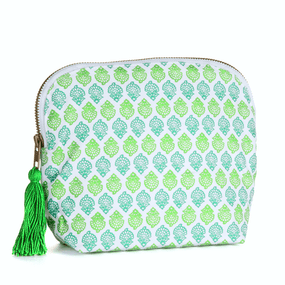 BRAI Pochette Porto - Imprimé Fleurs Indiennes - Green | James Anthony Collection