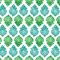 BRAI Pochette Porto - Imprimé Fleurs Indiennes - Green | James Anthony Collection