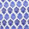 BRAI Pochette Porto - Imprimé Fleur Indiennes - Bleu   James Anthony Collection