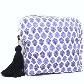 BRAI Pochette Porto - Imprimé Fleur Indiennes - Bleu