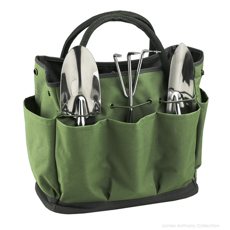 Picnic At Ascot Garden Tote & Tools Set - Forest Green | James Anthony Collection