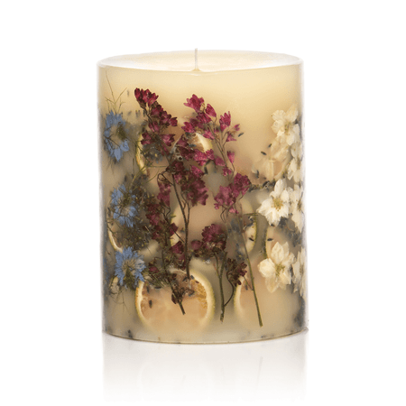 Rosy Rings Roman Lavender Round Botanical Candle | James Anthony Collection