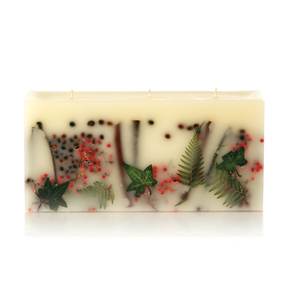 Rosy Rings Red Currant & Cranberry 3 Wick Botanical Brick Candle | James Anthony Collection