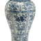 Blue and White Porcelain Chrysanthemum Flower Temple Jar - BLF151-CH | James Anthony Collection