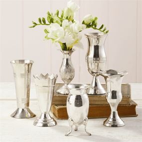 Two's Company Silver Queen Anne's Vases - Set of 6 | James Anthony Collection