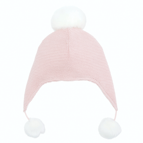 Elegant Baby Sofia & Finn Light Pink Aviator Hat | James Anthony Collection