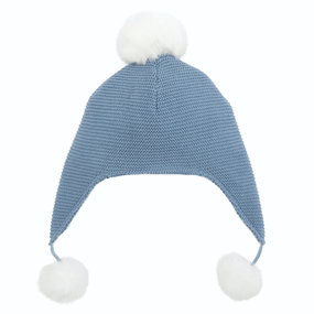 Elegant Baby Sofia & Finn Blue Aviator Hat | James Anthony Collection