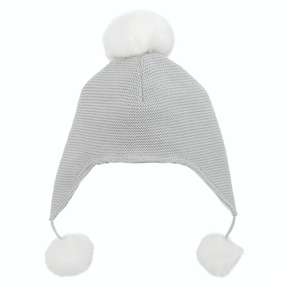 Elegant Baby Sofia & Finn Gray Aviator Hat | James Anthony Collection