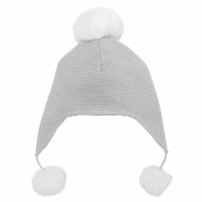 Elegant Baby Sofia & Finn Gray Aviator Hat | James Anthony Collection