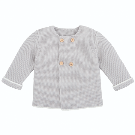 Elegant Baby Sofia & Finn Gray Cardigan w/ Tipping   James Anthony Collection