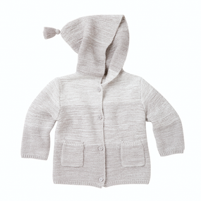 Elegant Baby Gray Ombré Tassel Knit Sweater | James Anthony Collection