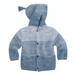 Elegant Baby Indigo Ombré Tassel Knit Sweater | James Anthony Collection