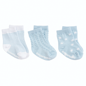 Elegant Baby Tonal Socks - 3pk Blue | James Anthony Collection
