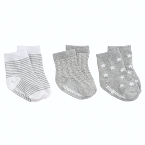 Elegant Baby Tonal Socks - 3pk Gray | James Anthony Collection
