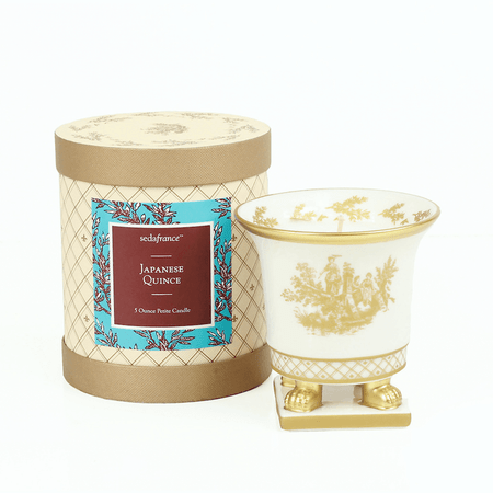 SEDA France Japanese Quince Classic Toile Petite Ceramic Candle | James Anthony Collection