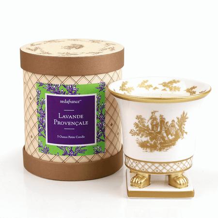 SEDA France Lavande Provencale Classic Toile Petite Ceramic Candle (sf-00130lpr) | James Anthony Collection