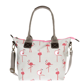 Sophie Allport Flamingos Oilcloth Mini Oundle Bag | James Anthony Collection