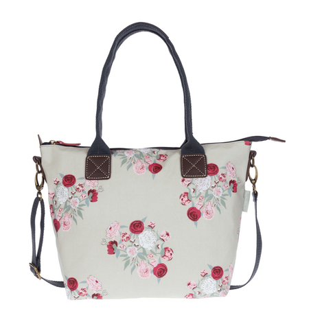 Sophie Allport Peony Oilcloth Mini Oundle Bag | James Anthony Collection