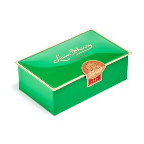 Louis Sherry Chocolates 2-Piece Mistletoe Green Tin