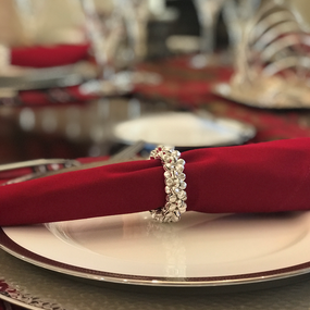Miniature Jingle Bells Napkin Rings - Silver | James Anthony Collection