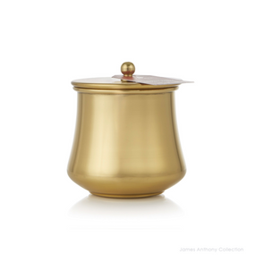 NEW - Thymes Simmered Cider Gold Kettle Cup Poured Candle