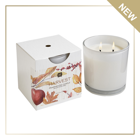 Hillhouse Naturals Harvest 2 Wick Glass Candle | James Anthony Collection