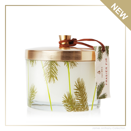 Thymes Frasier Fir Poured Candle Pine Needle 3-Wick (tyms-637666049823) | James Anthony Collection
