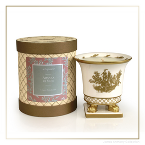 SEDA France Ampola de Seiner Classic Toile Petite Ceramic Candle (sf-00130ads) | James Anthony Collection