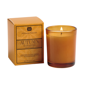 Hillhouse Naturals Autumn Harvested Votive Glass Candle | James Anthony Collection