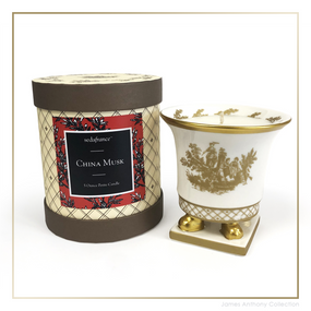 SEDA France China Musk Classic Toile Petite Ceramic Candle | James Anthony Collection