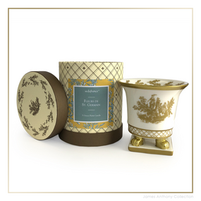 SEDA France Fleurs de St. Germain Classic Toile Petite Ceramic Candle (sf-00130fsg) | James Anthony Collection