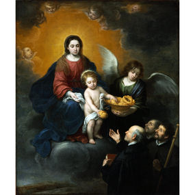 The Infant Christ Distributing Bread to the Pilgrims Christmas Card - James Anthony Collection (Front Cover)