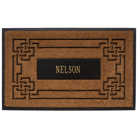 Whitehall Personalized Sailor's Knot Coir Mat- UPC: 719455405383 | James Anthony Collection