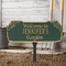 Whitehall Personalized Welcome Garden & Lawn Plaque In Green/Gold | James Anthony Collection