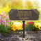 Whitehall Personalized Welcome Garden & Lawn Plaque In Bronze/Gold | James Anthony Collection